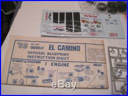 Amt 1969 69 El Camino 1/25 Stock Drag Custom Ss 396 T-312 200 Complete