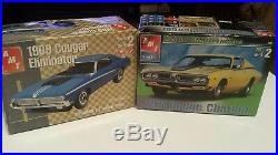 Amt 1971 Dodge Charger and 69 Mercury Cougar Eliminator model Kits