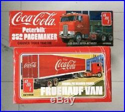 Amt 1/25 Coca Cola Peterbilt 352 Cabover Truck & Trailer Model Kits 1090 & 1109