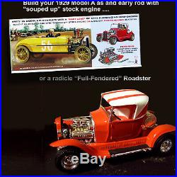 Amt 1/25 Mod Rod/model A'29 Ford Roadster 2 Complete Model Kits 1002
