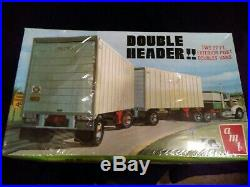 Amt Double Header Two 27' Ft. Ext. Post Doubles Vans. And C. F. Decals