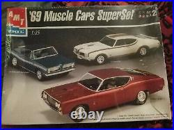 Amt Ertl'69 Muscle Cars Superset 125th 3 Model Car Kits From 1999 Factory