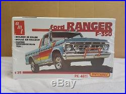 Amt Matchbox Ford F-350 Ranger Complete Kit Factoy Sealed 1/25 Scale