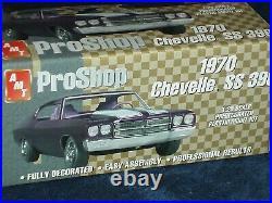 Amt Pro Shop 1970 Chevy Chevelle Ss396 1/25 Prepainted Plastic Model Kit Black