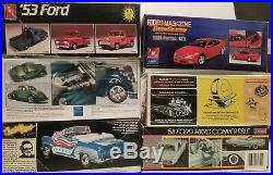 Amt Revell Monogram Model kits car pickup lot of 6 124/25 unassembled opened
