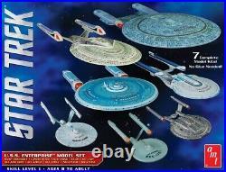 Amt Star Trek U. S. S. Enterprise Box Set 12500 Scale Snap Model Kits