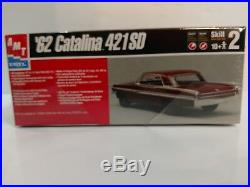 Amt/ertl'62 Catalina 421 Sd & 1962 Pontiac Catalina Custom 125 Model Kits Nip