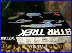 Amt/ertl U. S. S. Enterprise, Adversary 3 Pc. Plastic Model Kits, Star Trek, Nmib