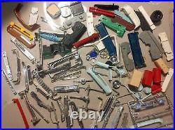 Big Lot Of Vtg 125 Model Kit Cars Parts Junkyard Tires Engine Body AMT Monogram