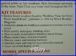 Brand New Model Shipways Miss Adventure Rc Racing Boat Wood Model Kit 1/6 1830