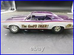 C2 MPC 1967 PONTIAC GTO TWIN ENGINE GEETO FUNNY CAR ANNUAL OLD Built McM 1/25