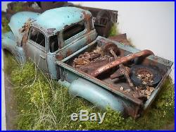 Chevy Pickup Truck Barn Find Diorama 1941 1950 Built Weathered AMT Revell 1/25