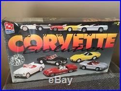Corvette Evolution Model Car Kit 5 Car Set 1/25 Model Kit by AMT Factory Sealed