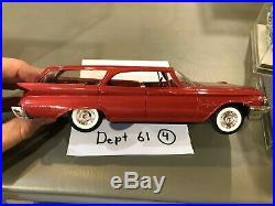 Dealer Promo Model 1960 CHRYSLER NEW YORKER RED WAGON MEMORY LANE HIGH GRADE