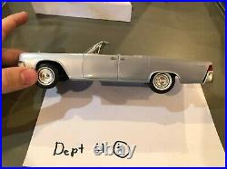 Dealer Promo Model 1961 LINCOLN CONTINENTAL CONVERTIBLE GREY BLUE HIGH GRADE