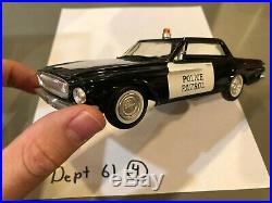 Dealer Promo Model 1962 DODGE DART BLACK POLICE HARDTOP HIGH GRADE