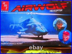 ERTL AMT AIRWOLF HELICOPTER 148 VINTAGE MODEL KIT 1982 Issue WRAPPED