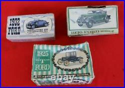 ESTATE Lot of 3 Vintage AMT Ford Promotional Model Car Kits 1925, 1932, 1936