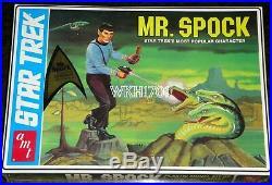 Enterprise, Klingon, Romulan, K7, Spock, Galileo Lot of 8 Star Trek Model Kits