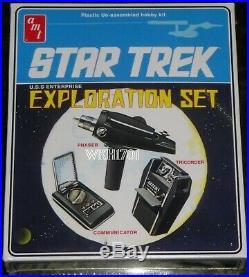 Enterprise, Klingon, Romulan, K7, Spock, Galileo Lot of 9 Star Trek Model Kits
