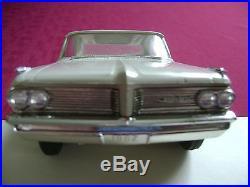 FREE SHIPPING! RARE AMT 1962 PONTIAC DESERT BEIGE Bonneville Hardtop Promo Model