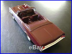 FREE SHIPPING! RARE AMT 1965 PONTIAC BURGUNDY GTO Convertible Promo Model