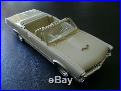 FREE SHIPPING! RARE AMT 1965 PONTIAC MISSION BEIGE GTO Convertible Promo Model
