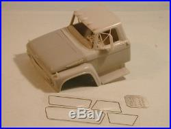 Ford F700 1/25 scale resin cab kit compatible AMT limited series