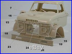 Ford N 950 1965 1/25 scale resin cab kit compatible AMT limited series