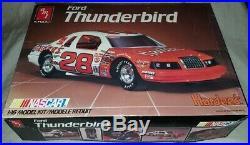Ford Thunderbird AMT ERTL Hardee's NASCAR 1/16 Plastic Model Kit Please Read