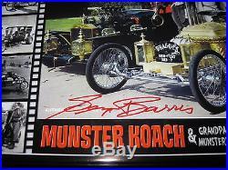 GEORGE BARRIS signed autograph Munsters KOACH DRAGULA photo case model kit AMT