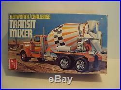 Htf! Amt Kenworth /challenge Transit Mixer 1/25 Scale Model Kit Box Open