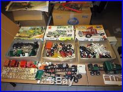 HugeLot 1970s AMT Semi Truck Model Kits & Parts Kenworth Chevy Bison Diamond Reo