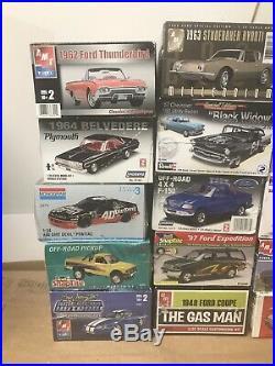 Huge Lot Of 15 Vintage Model Car Kits Sealed AMT Revell Monogram MPC