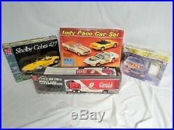 Indy Pace Car Plastic Model Set-shelby Cobra 427-transporter T/t-nos-buy It Now