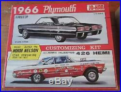 Johan 1966 Plymouth Fury HT Annual Kit # C-1266 Box & Bumper / Hood Parts Lot 66