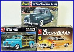LOT 11 Three (3) different 1/25 scale AMT/ERTL & REVELL MODEL CAR kits