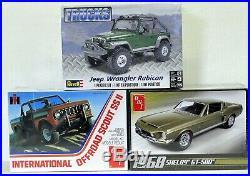 LOT 12 Three (3) different 1/25 scale AMT/ERTL & REVELL MODEL CAR kits