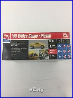 LOT 3 AMT Model Car Building Kits Piranha,'40 Willys Coupe/Pickup, El Camino