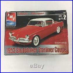 LOT 4 Model Car Building Kits AMT 1939/40 Ford Millennium 1953 Studebaker Coupe
