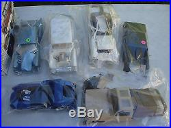 LOT AMT & 1 REVELL 1/16TH KITS (Sealed inside, Started, built up, parts galore)