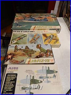 LOT of 36 VINTAGE 1960's AIRPLANE MODEL KITS Airfix, Monogram, AMT, Aurora, etc