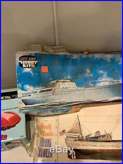Lare Lot Of 20 Vintage Model Kits Life Like Ertl Amt Italieri Matchbox Vintage