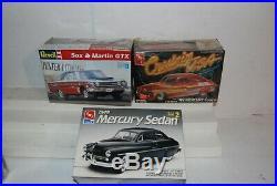 Lot 11 Car Model Kits AMT Revell Mercury Dodge Hot Rod Thunderbird