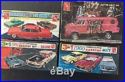 Lot 3 AMT 1960 Falcon Kiss Chevrolet 3 In 1 Scale Model Assembly Kit E10