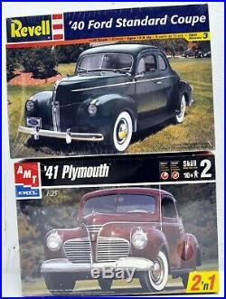 Lot F (10) Amt/ertl Monogram Revell 1/25 Model Car Kits New, Sealed