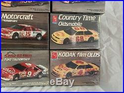 Lot Of 11 New Sealed Amt 125 Scale Nascar Model Kits Earnhardt Petty Elliott
