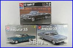 Lot Of 3 New Sealed AMT Ertl Car Model Kits'62'63'64 Chevy Impala SS Muscle