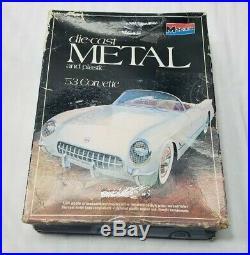 Lot Of 4 Corvette Model Kits 3 AMT + 1 Monogram Die Cast Model Kit