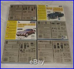 Lot Of 6 Car Model Kits 86 El Camino Ss 48 Lincoln 66 Mercury New Factory Sealed